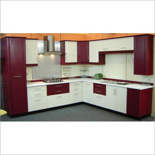 Modern L Shaped Modular Kitchen