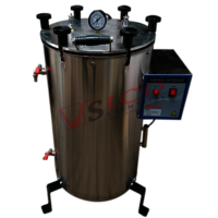 Vertical Double Walled Wing Nut Autoclave