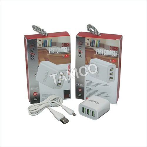 3.1 Amp 3 USB Charger Cable