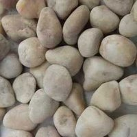 Offwhite river pebbles