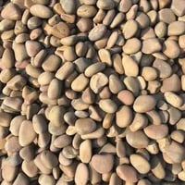 Yellow river pebbles