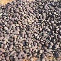 Brown river pebbles