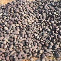 Brown river pebbles