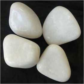 White Jambo Polished Pebbles 40-60mm
