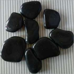 Black Agate Flat Polish Pebbles