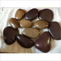 Natural river flat polish pebbles