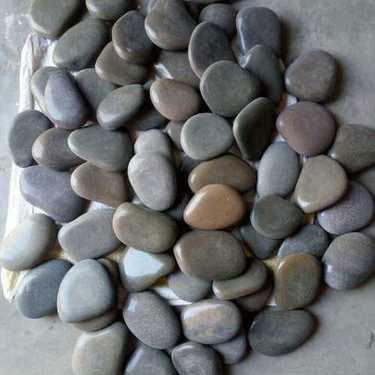 Natural River Flat Polish Pebbles