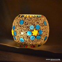 Beautiful Mosaic Glass Candle Holder