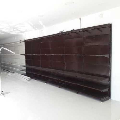 Wall side garments display rack