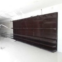 Wall side garments display rack