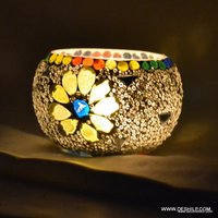 MOSAIC GLASS DECOR CANDLE HOLDER