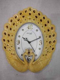 4040 Peacock wall clock