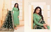 Fancy Satin Silk Salwar Suits