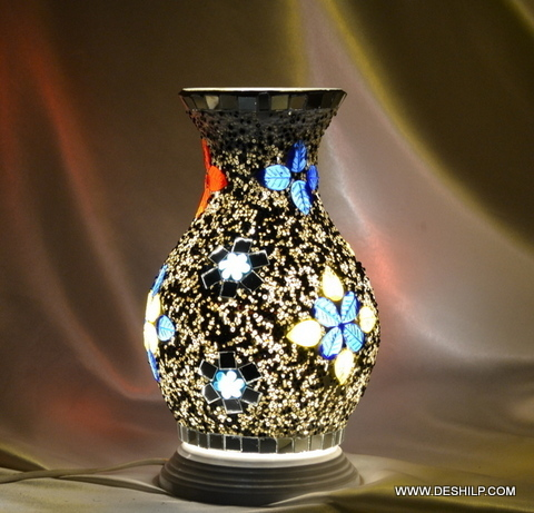 Mosaic Glass Candle Handmade Votive