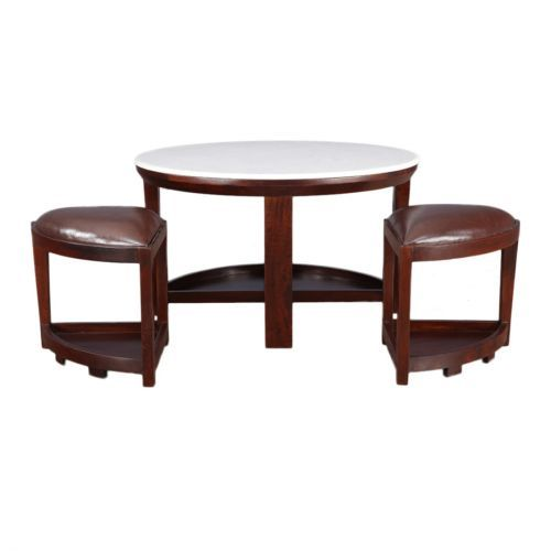 2 STOOLS COFFEE TABLE