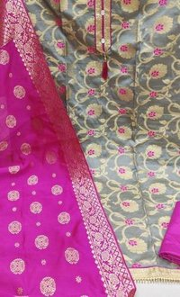 Banarasi Jacard Fabric Unstitched Dress Materials