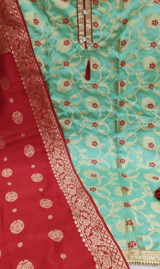 Banarasi Jacard Fabric Unstitched Dress Materials