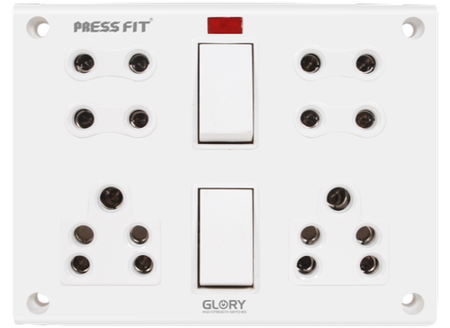 Press Fit - Glory 11-in-1 Switch Socket Combined