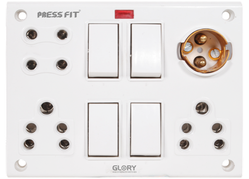 Press Fit - Glory 12-in-1 Switch Socket Combined