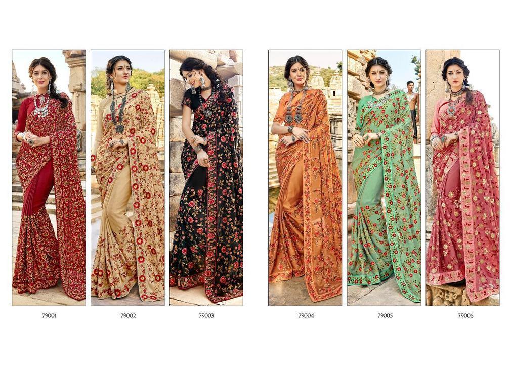 Embroidery Work Designer Sarees