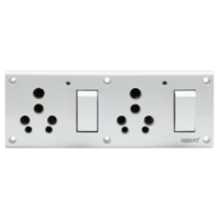 Press Fit - Glory 8-in-1 6/16 Amp Indian Switch Socket Combined