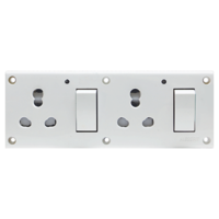 Press Fit - Glory 8-in-1 6/16 Amp Universal Switch Socket Combined