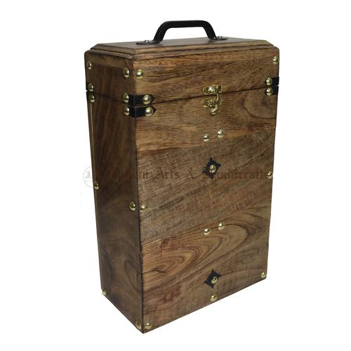Wooden Wine Bottle Box
