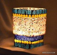 MOTI DESIGN GLASS  T-LIGHT CANDLE HOLDER