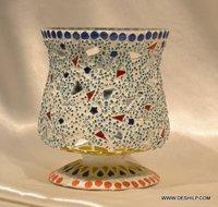 HURRICANE SHAPE GLASS CANDLE HOLDER