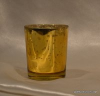 SILVER GLASS T LIGHT VOTIVE