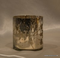SILVER  FINISH CANDLE HOLDER