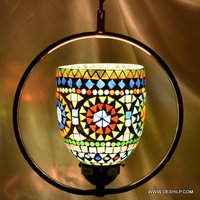 MULTI MOSAIC GLASS WALL HANGING LAMP