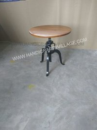 Mock Round Wooden Table