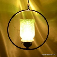 LED & BULB FIT GLASS WALL HANGING