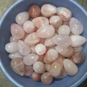 Rose quartz egg shape