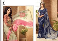 Fancy Georgette Digital Printed Sarees