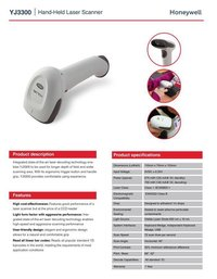 YJ3300 Honeywell Barcode Scanner
