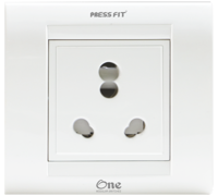 Press Fit One Modular 6/16 Amp. 1-in-1 Socket