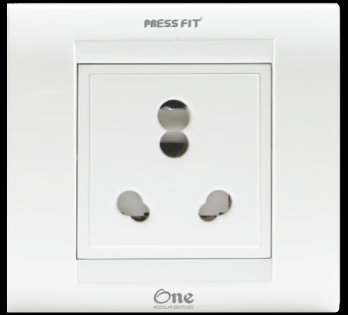 Pressfit One Modular 6/16 Amp. 1-in-1 Socket