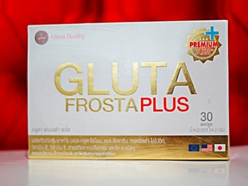 Gluta Frosta Plus - 30 Caps Whitening Skin Reduce Acne Freckles, Dark Spot