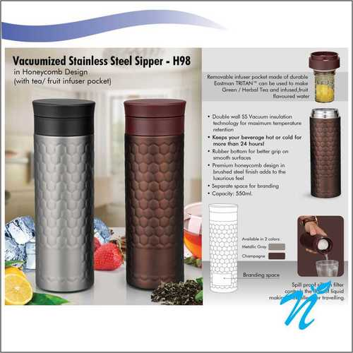Vaccumized Stainless Steel Sipper