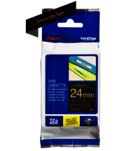 Brother Genuine Gold on Black P-Touch Tape(TZe-354)