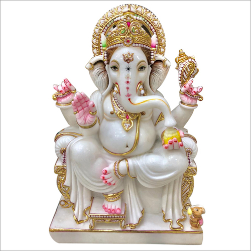 Lord Ganesha Marble Statue