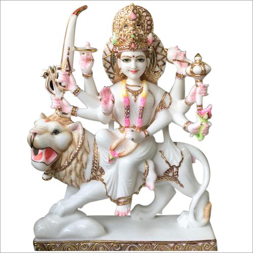 Shera wali Mata Marble statue