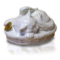 Sleeping Angel Cat Cremation Urn White