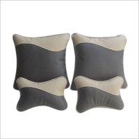 Black Leatherite Car Pillow Cushion