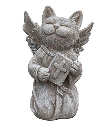 Praying Cat Angel Memorial Statue-Garden Marker