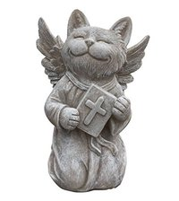 Praying Cat Angel Memorial Statue-Garden Marker