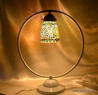 MOSAIC FINISH STUDY GLASS TABLE LAMP