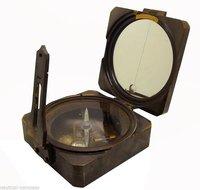 Antique Brass Surveyor's Transit Brunton Compass